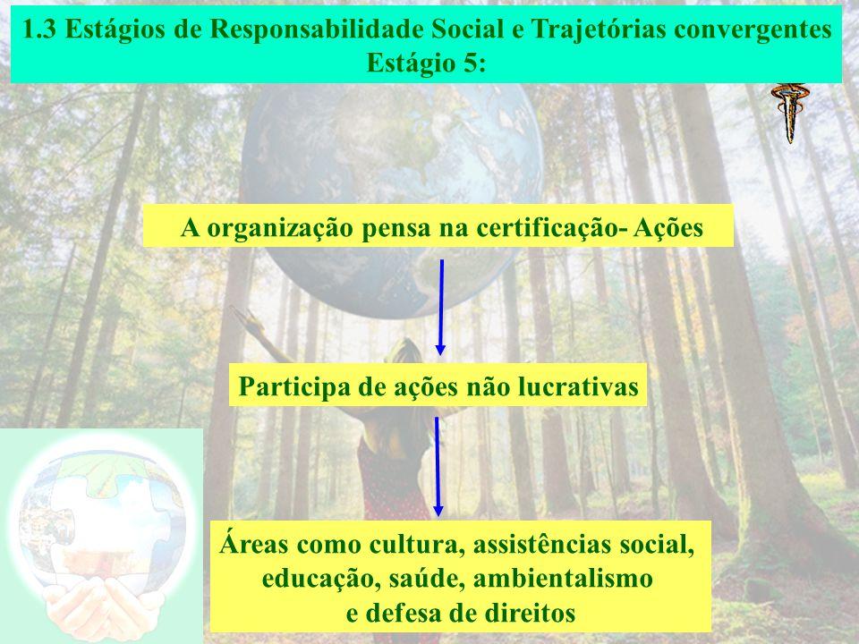 1.3 Estágios de Responsabilidade Social e Trajetórias convergentes