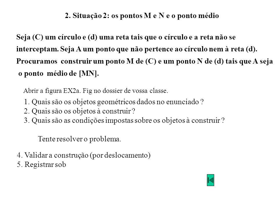 2. Situação 2: os pontos M e N e o ponto médio