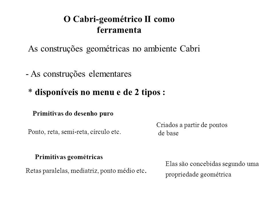 O Cabri-geométrico II como ferramenta