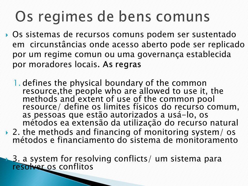 Os regimes de bens comuns