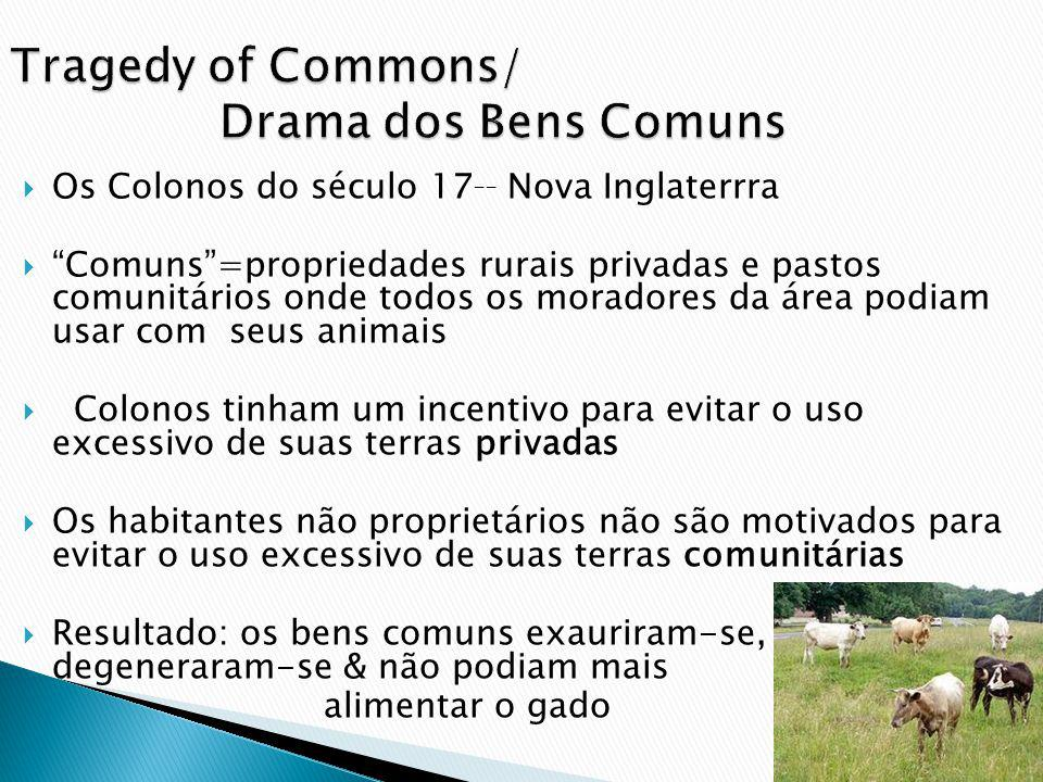 Tragedy of Commons/ Drama dos Bens Comuns