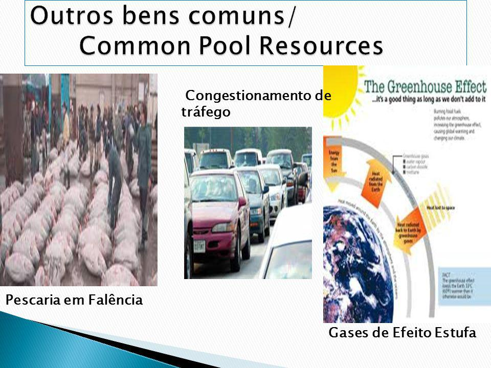 Outros bens comuns/ Common Pool Resources