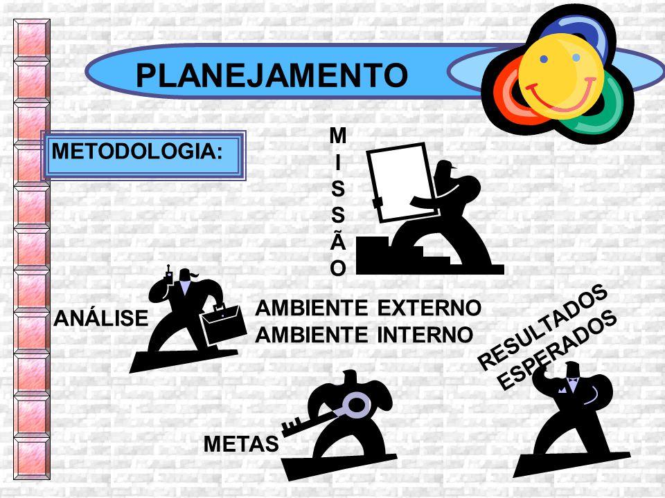 PLANEJAMENTO M I METODOLOGIA: S Ã O RESULTADOS AMBIENTE EXTERNO