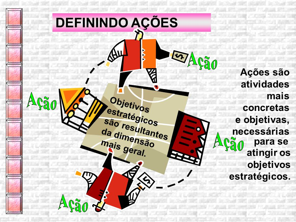 Ação Ação DEFININDO AÇÕES Ações são atividades mais concretas