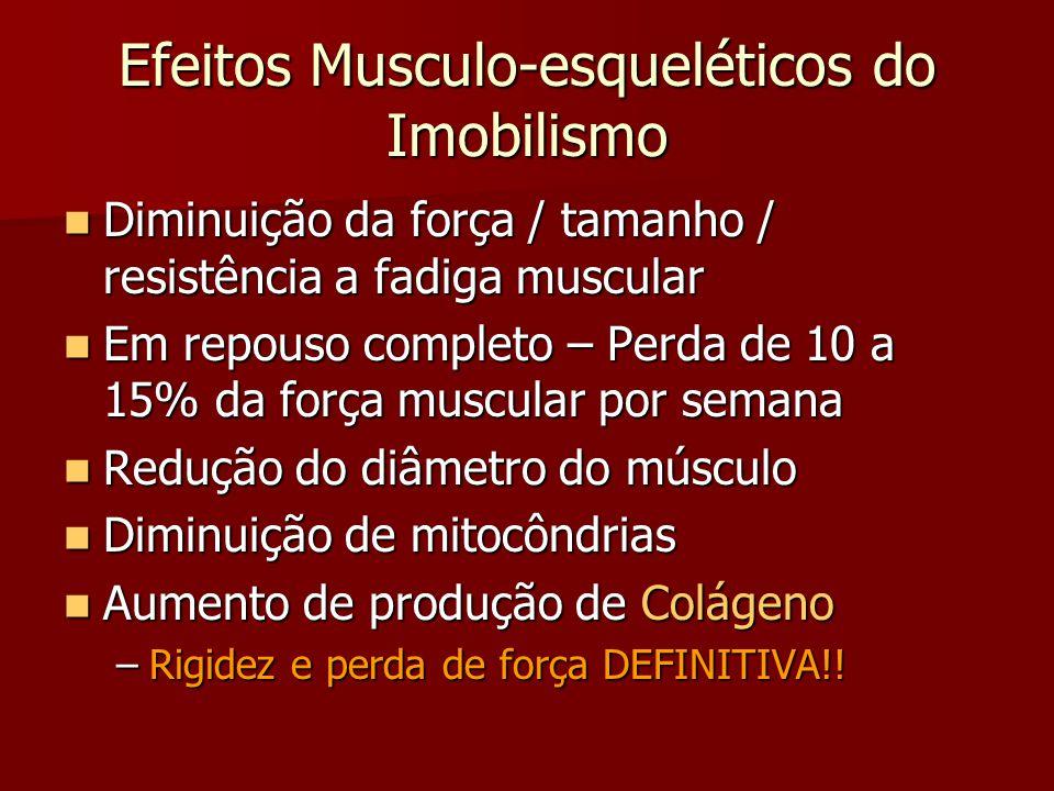 Efeitos Musculo-esqueléticos do Imobilismo