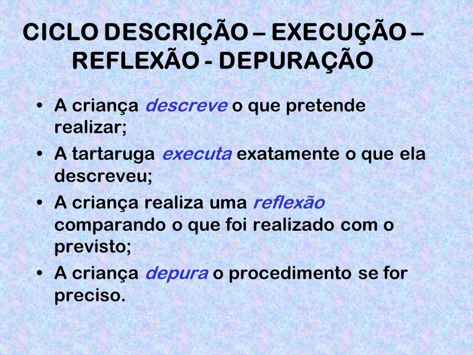 CICLO DESCRIÇÃO – EXECUÇÃO – REFLEXÃO - DEPURAÇÃO