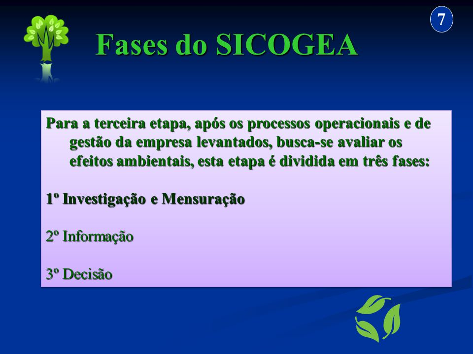 7 Fases do SICOGEA.