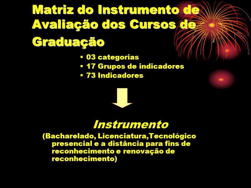 Matriz do Instrumento de Avaliação dos Cursos de Graduação