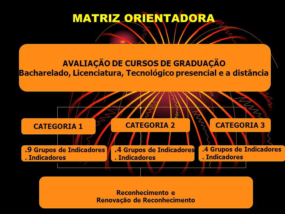 MATRIZ ORIENTADORA AVALIAÇÃO DE CURSOS DE GRADUAÇÃO