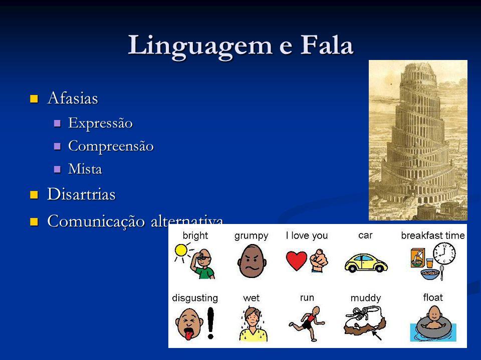 Linguagem e Fala Afasias Disartrias Comunicação alternativa Expressão