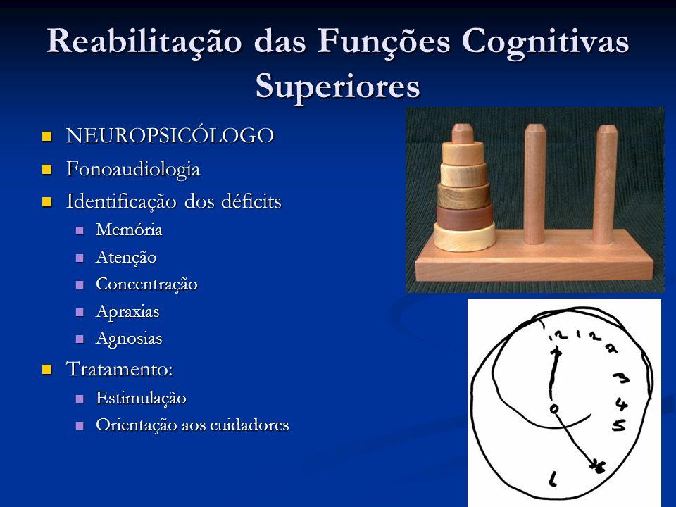Reabilitação das Funções Cognitivas Superiores