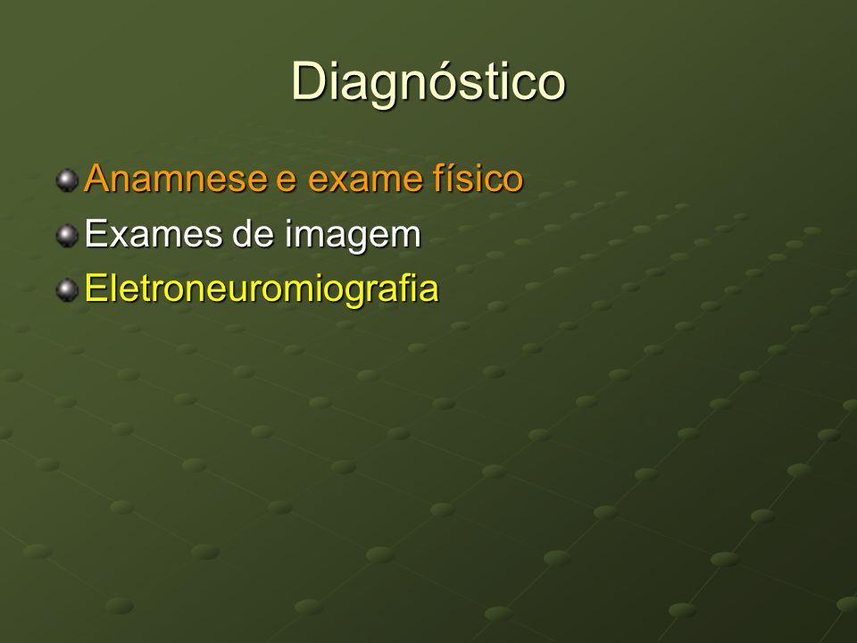 Diagnóstico Anamnese e exame físico Exames de imagem