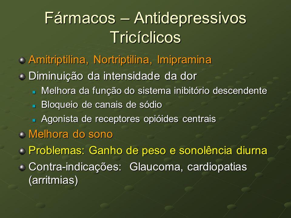 Fármacos – Antidepressivos Tricíclicos