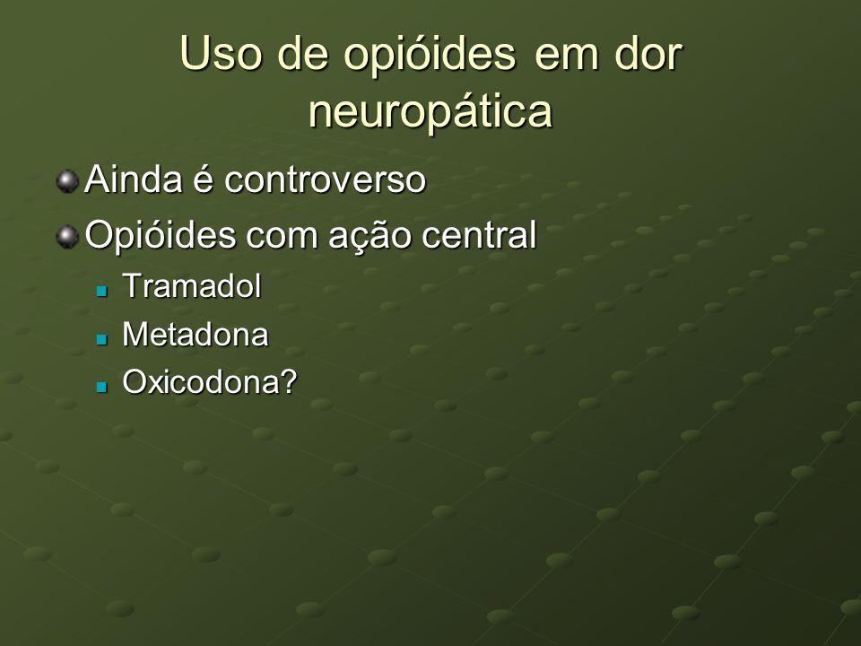 Uso de opióides em dor neuropática