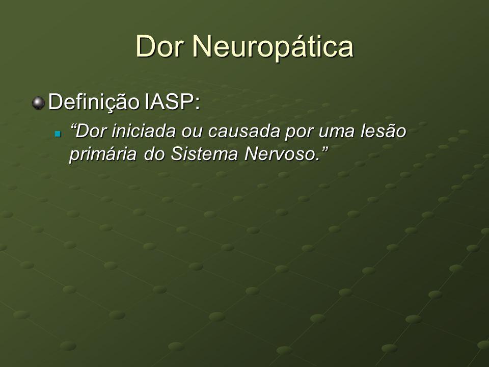Dor Neuropática Definição IASP: