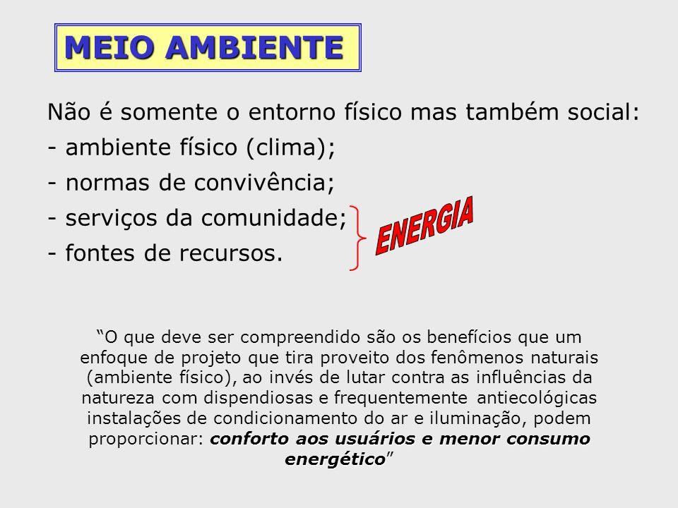 MEIO AMBIENTE Não é somente o entorno físico mas também social:
