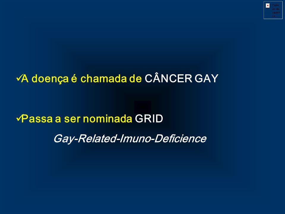 A doença é chamada de CÂNCER GAY