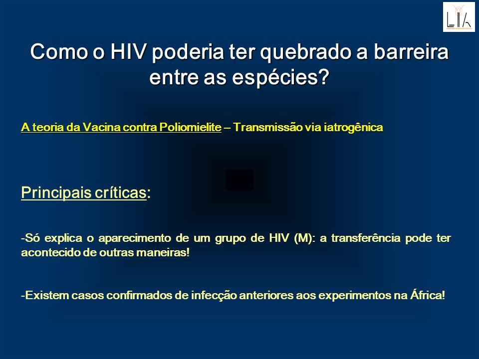 Como o HIV poderia ter quebrado a barreira entre as espécies