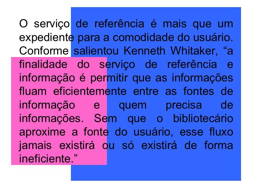 O serviço de referência é mais que um expediente para a comodidade do usuário.