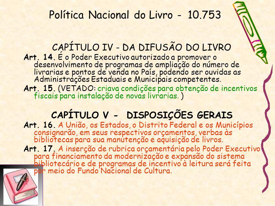 Política Nacional do Livro - 10.753