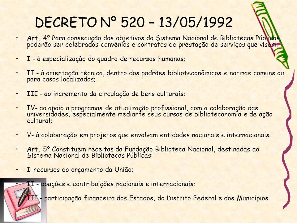DECRETO Nº 520 – 13/05/1992