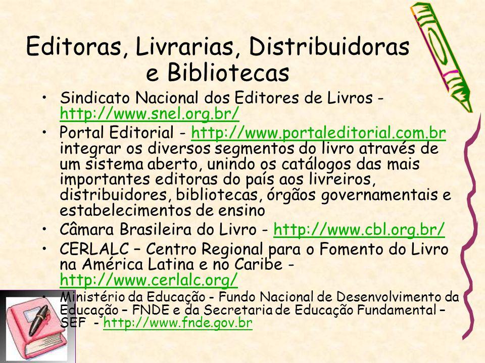 Editoras, Livrarias, Distribuidoras e Bibliotecas