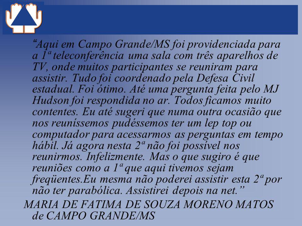 MARIA DE FATIMA DE SOUZA MORENO MATOS de CAMPO GRANDE/MS