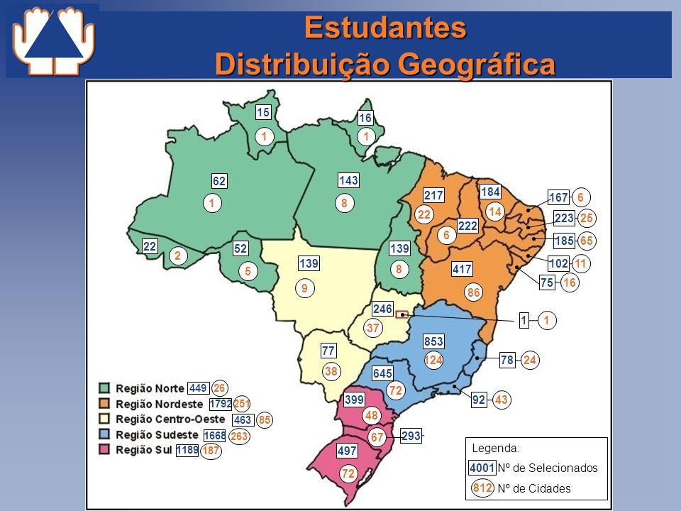 Estudantes Distribuição Geográfica