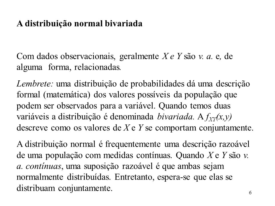 A distribuição normal bivariada