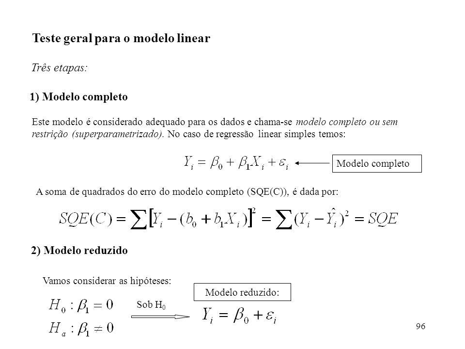 Teste geral para o modelo linear