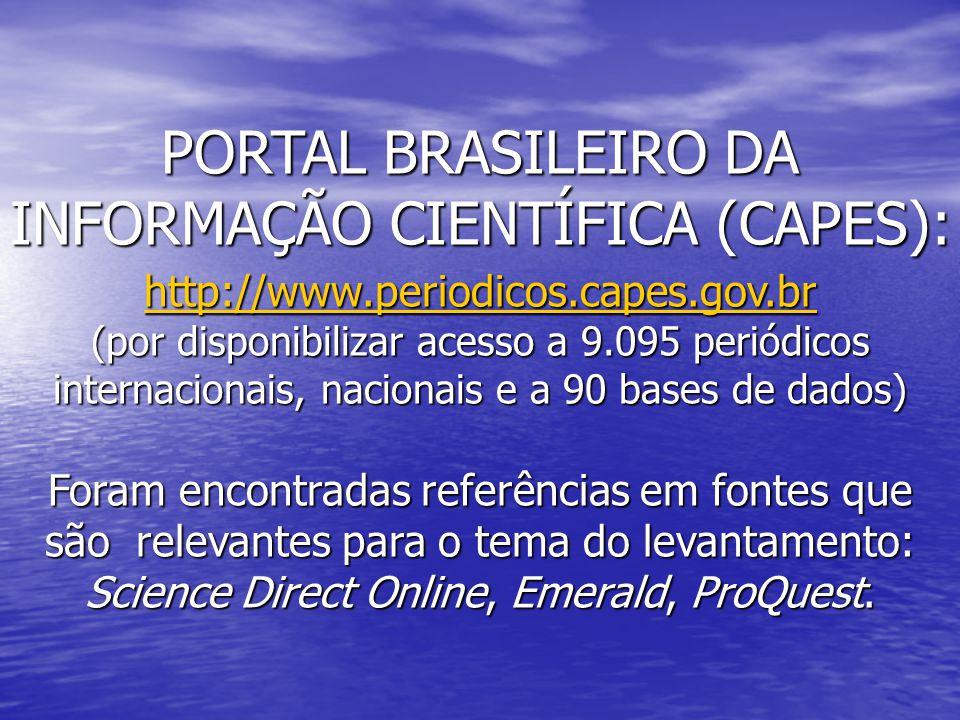 INFORMAÇÃO CIENTÍFICA (CAPES):