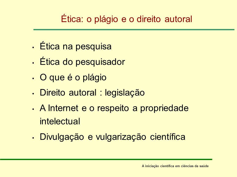 Ética: o plágio e o direito autoral
