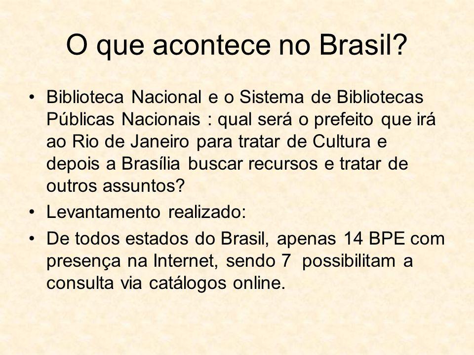 O que acontece no Brasil