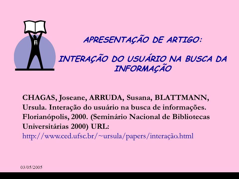 APRESENTAÇÃO DE ARTIGO: