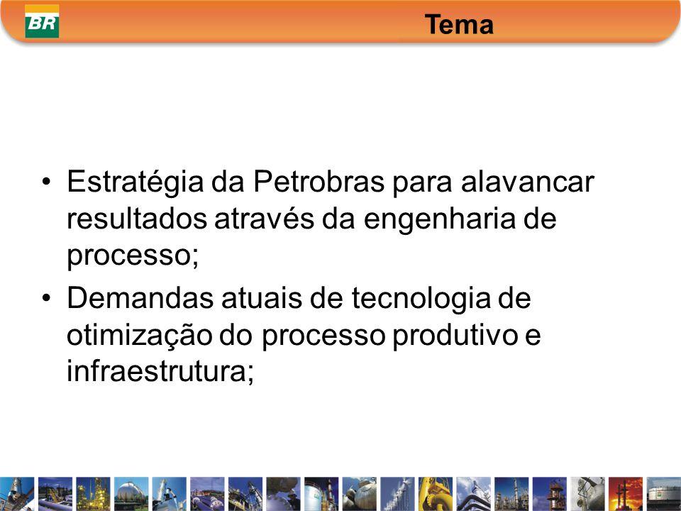 Tema TEMA. Estratégia da Petrobras para alavancar resultados através da engenharia de processo;