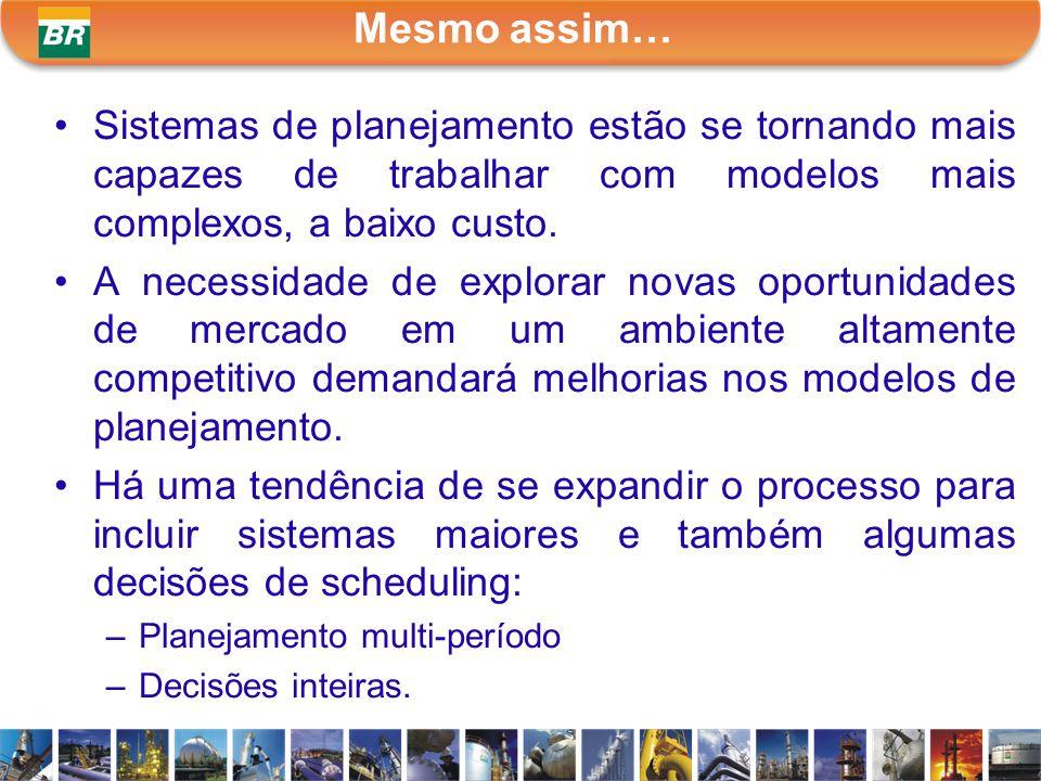 Mesmo assim… Sistemas de planejamento estão se tornando mais capazes de trabalhar com modelos mais complexos, a baixo custo.