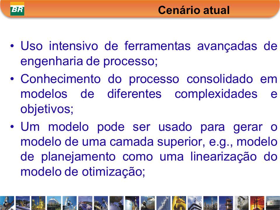 Uso intensivo de ferramentas avançadas de engenharia de processo;