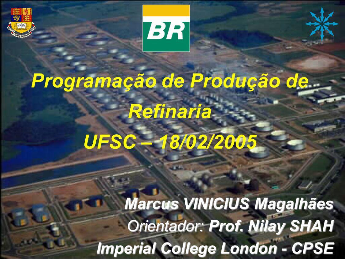 Programação de Produção de Refinaria UFSC – 18/02/2005