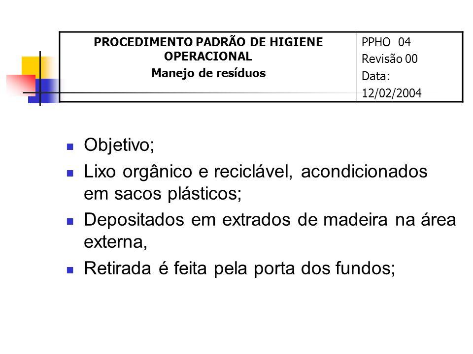 PROCEDIMENTO PADRÃO DE HIGIENE OPERACIONAL