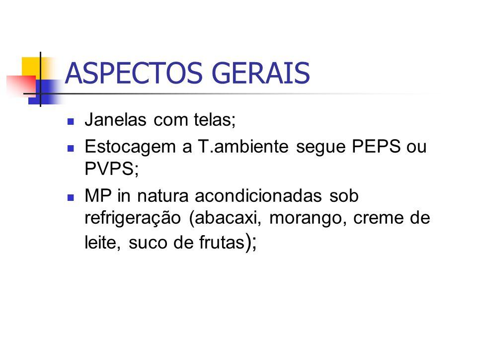 ASPECTOS GERAIS Janelas com telas;