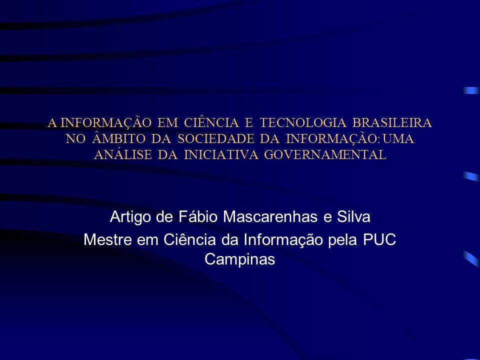 Artigo de Fábio Mascarenhas e Silva
