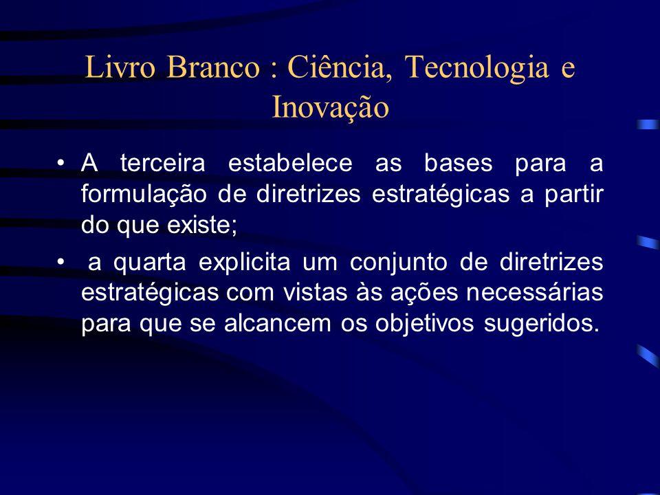Livro Branco : Ciência, Tecnologia e Inovação