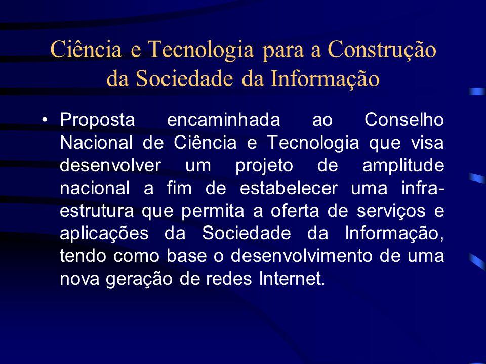 Ciência e Tecnologia para a Construção da Sociedade da Informação