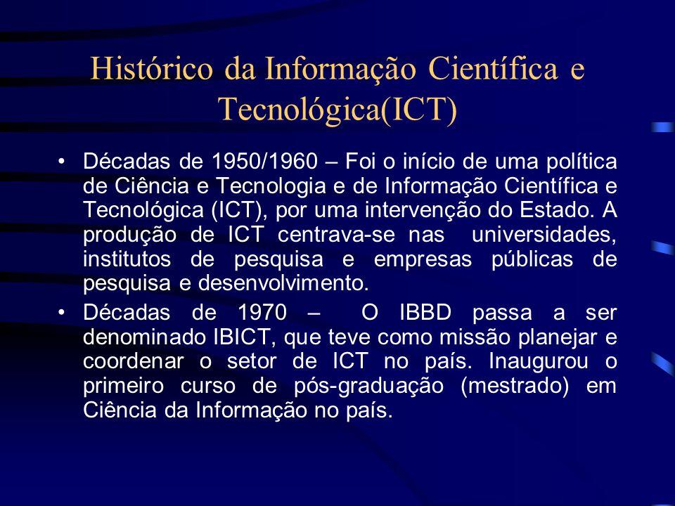 Histórico da Informação Científica e Tecnológica(ICT)