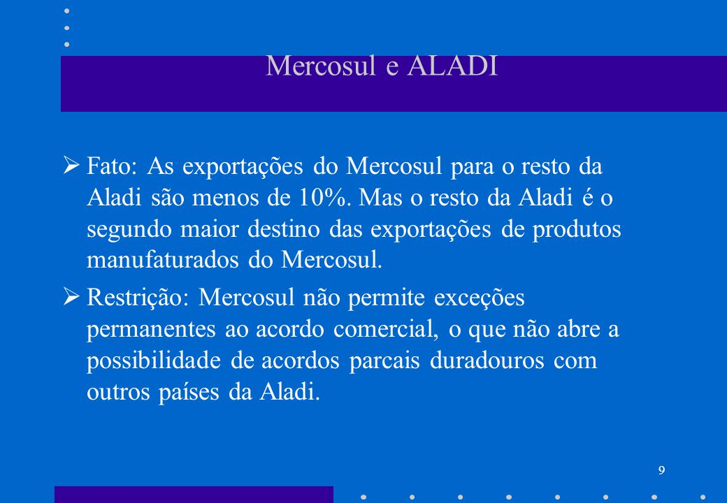 Mercosul e ALADI