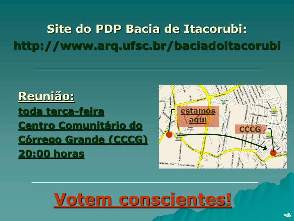 Site do PDP Bacia de Itacorubi: