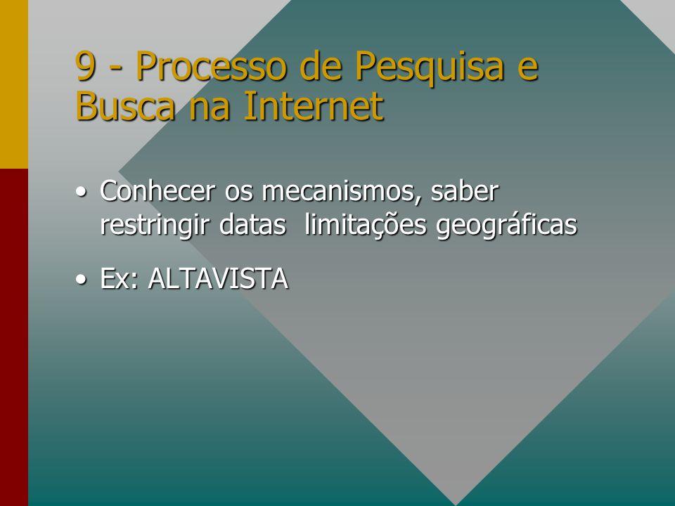 9 - Processo de Pesquisa e Busca na Internet