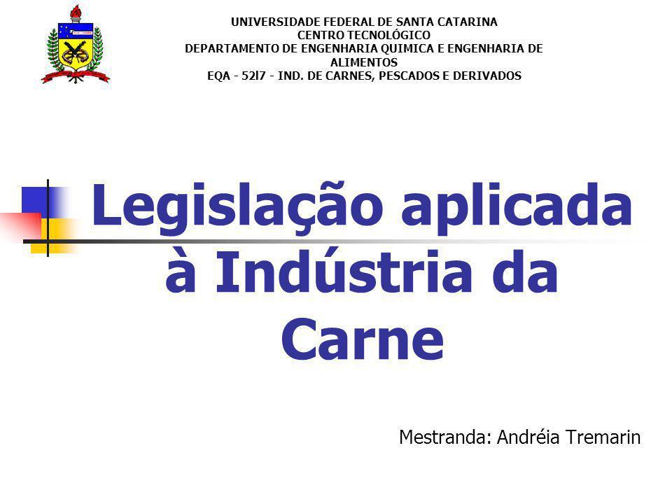 Legislação aplicada à Indústria da Carne