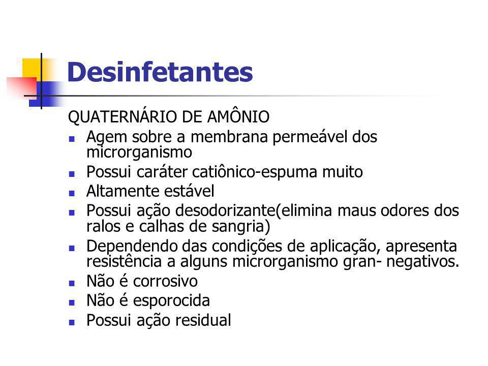Desinfetantes QUATERNÁRIO DE AMÔNIO