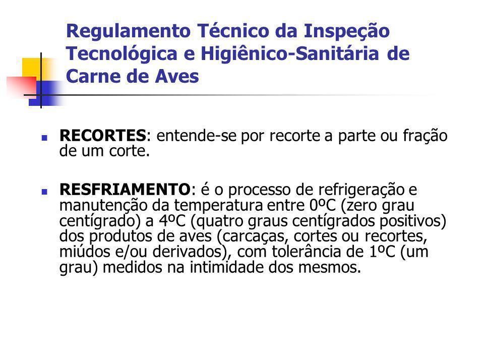 Regulamento Técnico da Inspeção Tecnológica e Higiênico-Sanitária de Carne de Aves